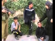 Coward IDF fighting kids