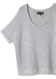 two sides knit in one piece then joined  100% Cotton.  Rag & Bone Laurel Short Sleeve Knit