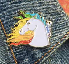 This unicorn is gorgeous & magical creature. And so are you! Enamel pins are fun, quirky & retro. Wear them on your denim jacket, blouse or