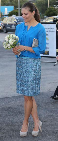 Crown Princess Victoria wearing By Malene Birger Elliat Court Pumps.
