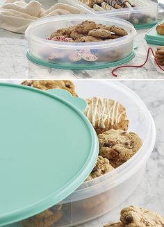 "Round Container. Fits a 9""/22.5 cm pie or up to 12 muffins."