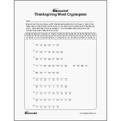 Thanksgiving Word Cryptogram