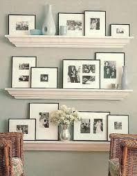 Image result for arranging picture frames on a shelf