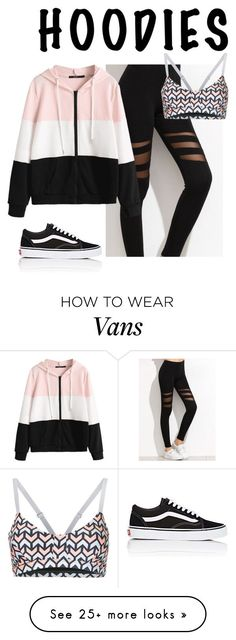 """Untitled #456"" by zahraamuhee on Polyvore featuring Vans, The Upside and Hoodies #estilochic"