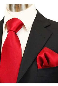 Love the black suite white shirt red tie look | {My Future Wedding ...
