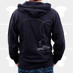 Fly fishing hoodie.