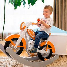 Motorcycle Rocking Horse, Rocking Horse Plans, Rocking Chair Plans, Motorcycle Baby, Childrens Rocking Chairs, Plywood Projects, Craft Projects, Wooden Kayak, Unique Cats