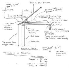 Awesome Drawing Table Plans | Table Plans PDF Download