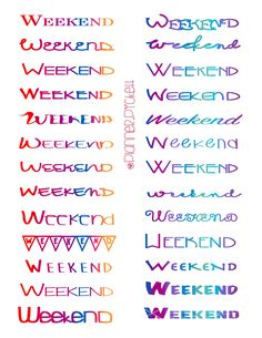 @planner.PICKETT: Free Weekend Planner Printable Stickers for the ERin Condren , Happy Planner , Limelife, Plum Planner Kikki K planner and more!