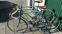 Front: Batavus Criterium. 1980. From first owner. Needs a good clean and new grease.