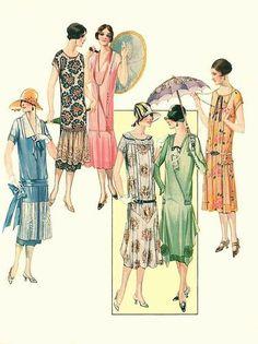 bumble button: Raining Violets, Art Nouveau Poppys,Boys and Airplaine, 1920 1930 Women's Clothing Romantic Woman and a Portrait of a pensive Young lady