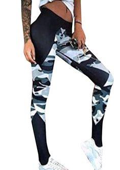 32de85f1d9 Abetteric Womens Active Workout Yoga Workout Leggings Sport Pants Black M *  Amazon most trusted e-retailer #YogaLeggings