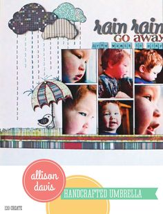 ISSUU - CREATE: Issue 3, March 2014 by Scrapbook Generation Embroidered rain- so cute