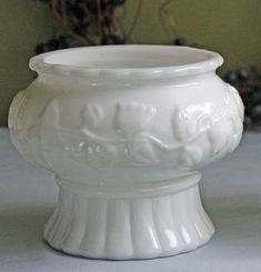 Milk Glass Wedding Bowl