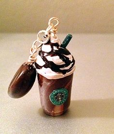 Starbucks Frappuccino Polymer Clay Charm by Kutovi on Etsy Bring that cute Frappe wherever you go~