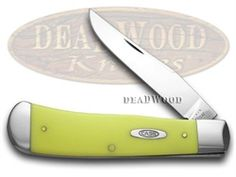 CASE XX Yellow Delrin Backpocket Knife - CA7380 | 7380 - 021205073804