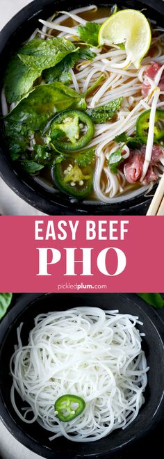 Beef Pho Soup Recipe, Pho Recipe Easy, Easy Soup Recipes, Dinner Recipes, Cooking Recipes, Healthy Recipes, Pho Beef, Gluten Free Pho Recipe, Chinese Noodle Soup Recipe