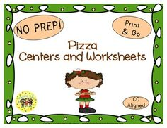 Pizza Word Search, Graphing Sheet, Bingo, Book List, Art Project, Writing Activity, Websites, Group Activity, AND 9 thematic worksheets in b/w AND color!!!