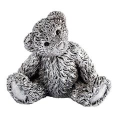 Royal Selangor Classic Theodore Bear Figurine ($59) ❤ liked on Polyvore featuring home, home decor, fillers, animals, miscellaneous, metallic, animal figure, bear figurines, teddy bear figurines and animal figurines