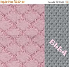 SALE Personalized  Baby Blanket For Girl /Minky Baby Blanket