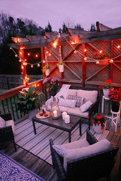 Stunning Backyard Patio and Deck Design Ideas 39 Outdoor Retreat, Backyard Retreat, Outdoor Spaces, Outdoor Decor, Outdoor Lighting, Backyard Patio Designs, Backyard Landscaping, Patio Ideas, Landscaping Design