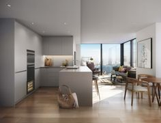 DBOX for Berkeley Group - SQP - 2BED Living Kitchen