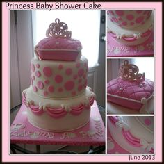 A Princess Baby Shower Cake for a wonderful couple having their first baby in a few months.