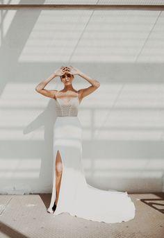 glam, chic, bridal style. sarah seven bride. lauren apel photo.