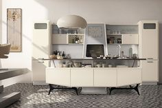 Fifties style kitchen with modern appliances