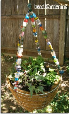 Beaded Hanging Basket Tutorial