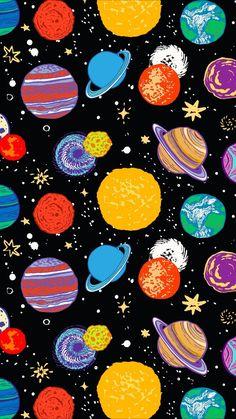 Wallpaper Iphone - 惑星 ☆彡 Tumblr Wallpaper, Cool Wallpaper, Wallpaper Space, Aztec Wallpaper, Drawing Wallpaper, Beautiful Wallpaper, Galaxy Wallpaper, Mobile Wallpaper, Pattern Wallpaper
