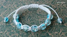handmade bracelet shamballa cord crackle rękodzieło biżuteria bransoletka sznurek ручная_работа браслет шнур шамбала кракле
