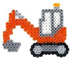 Hama 3143 - Geschenkpackung Baufahrzeuge, circa 4000 Bügelperlen, 1 Stiftplatte und Zubehör: Amazon.de: Spielzeug