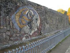 Chillan Chile, Mural to Bernardo O'Higgins, national hero