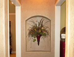 Wall Niche Decor inset wall niche with matching ceiling. 4 insets with a mantle
