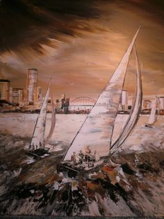 Original Acrylic Painting on Canvas  Seascape di Borettoart, $380,00