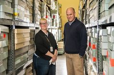 Deidre Thieman, manager of production archives, and Jeff Pirtle, NBCUniversal director of archives and collections