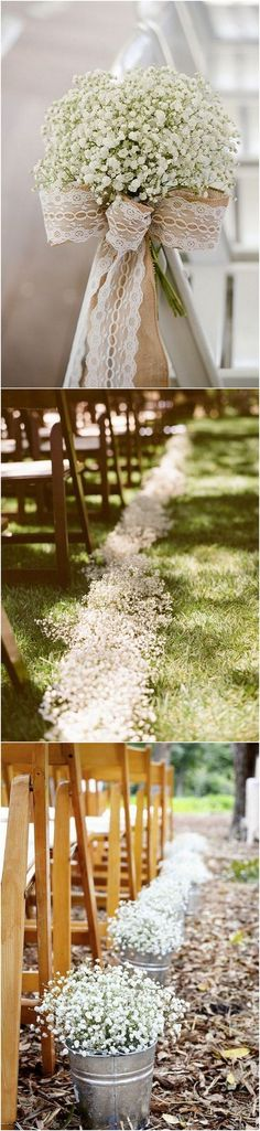 baby's breath themed wedding decoration ideas