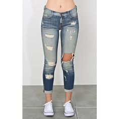 Make Way Boyfriend Jeans ($35) ❤ liked on Polyvore featuring jeans, pants, pants - leggings, bottoms, tinted destroyed, cuffed jeans, destroyed jeans, destroyed boyfriend jeans, rolled cuff jeans and rolled up jeans