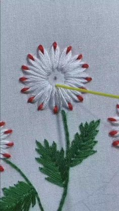 Hand Embroidery Patterns Flowers, Hand Embroidery Videos, Embroidery Stitches Tutorial, Hand Embroidery Designs, Embroidery Techniques, Crewel Embroidery, Simple Flower Embroidery Designs, Snowflake Embroidery, Garden Embroidery