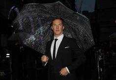 """I AM BENEDICT CUMBERBATCH AND I SHALL CARRY MY OWN UMBRELLA."""
