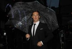 """I AM BENEDICT CUMBERBATCH AND I SHALL CARRY MY OWN UMBRELLA."""