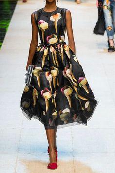 Dolce & Gabbana | Embellished printed silk-organza midi dress | NET-A-PORTER.COM