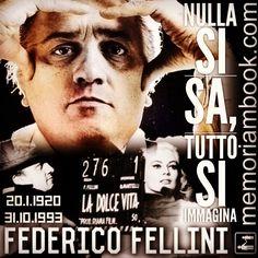 #memoriambook #federicofellini #ladolcevita #registiitaliani #cinemaitaliano #cinema