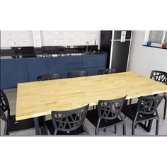 Comporta confortavelmente 8 pessoas Conference Room, Table, Furniture, Home Decor, Industrial Decor, Dinner Party Table, People, Home, Industrial Style