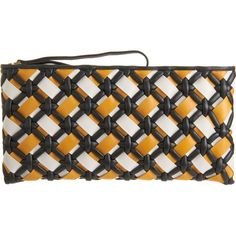 woven leather clutch by Marni at lunch @Sarah Chintomby Chintomby Chintomby Barney New York