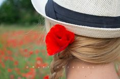 Poppy field and my hat