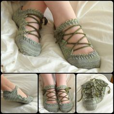 Knitting Elven Slippers with Pattern... 20+ Slipper Knitting Patterns--->  http://coolcreativity.com/knit-2/diy-slipper-knitting-patterns/  #Knitting #Slipper #Pattern
