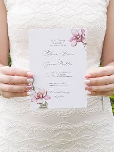 Floral Wedding Invitation Template Printable Wedding Invite