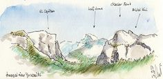 yosemite - I like this idea of recording your travels in sketches